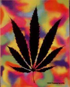 Marijuana Leaf Weed Stoner Pot Cannabis sticker tie dye