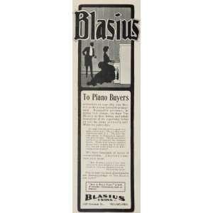 1903 Vintage Ad Blasius Upright Piano Philadelphia